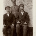 Three Russian prisoners of war 1914-1918 in Danish care, thanks to Red Cross. From Royal Library of Denmark, Department of Maps, Prints and Photographs
